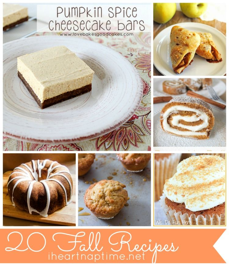 20 Fall Recipes {Link Party Features} I Heart Nap Time | I Heart Nap