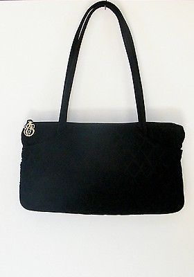 Vera Bradley Black Quilted Microfiber Purse Handbag Shoulder Bag ... 4ef83ec0a7ccd