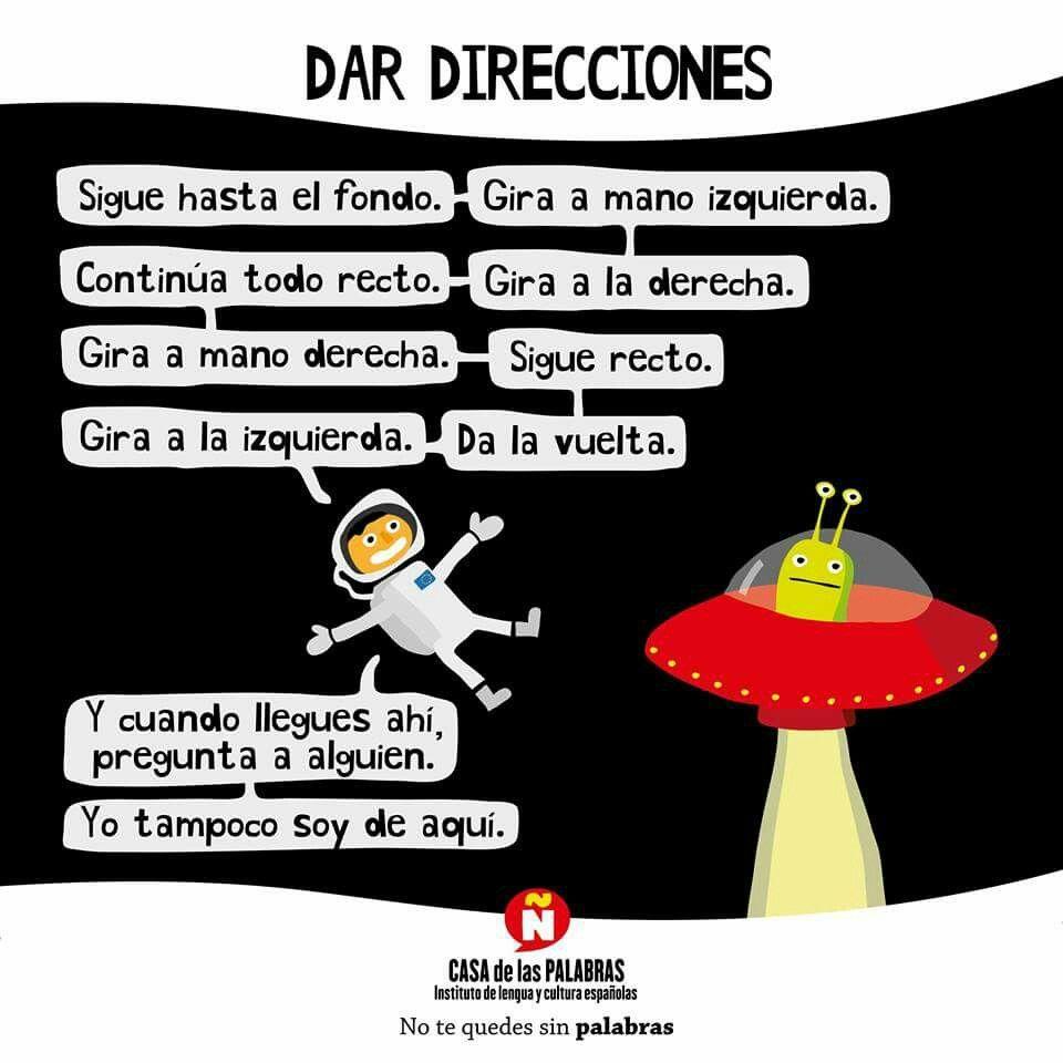 Dar direcciones. Español. Casa de las palabras. ELE ...