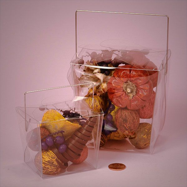Clear Plastic Wire Handle Boxes- $11.76 for 24 boxes 3x2.25x3.5 in ...