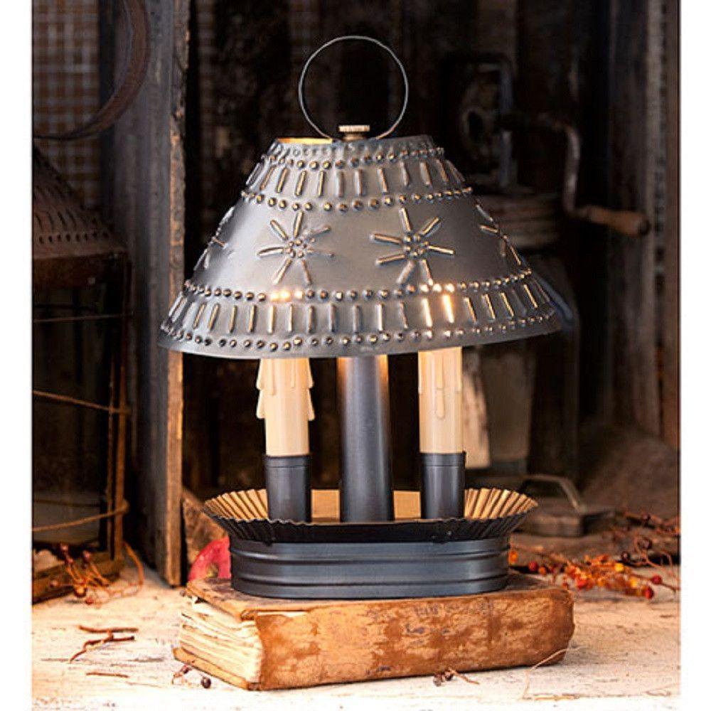 primitive lighting ideas. Colonial Pierced \u0026 Crimped Tin Grandma\u0027s Accent Light In Smokey Black Finish Primitive Lighting Ideas