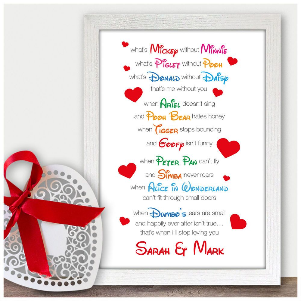 Details About Personalised First Wedding Anniversary Gift