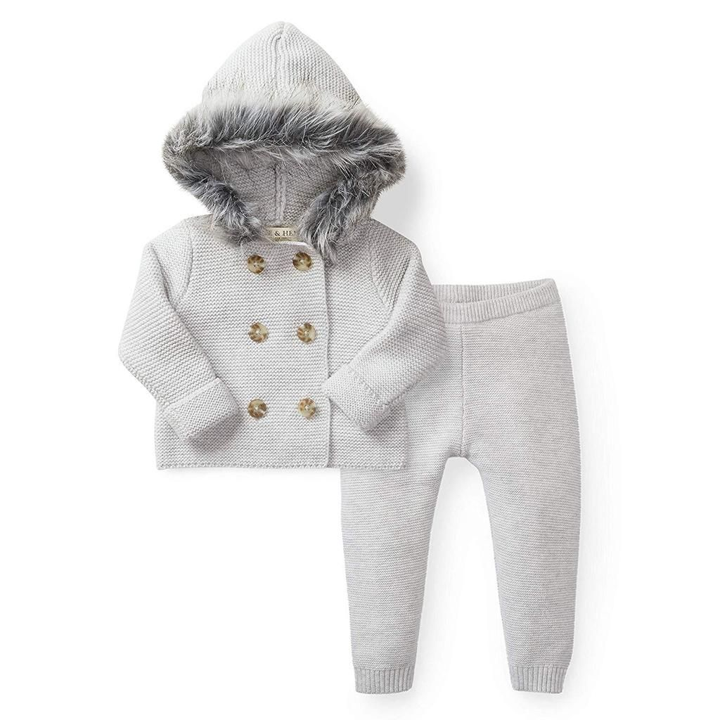 160014ae862f Faux Fur Hooded Sweater Set