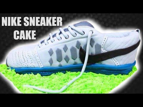 Sneaker Torte Nike Schuh Kuchen Tutorial Schuh Torte von Kuchenfee