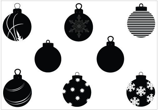 Christmas Ornament Vector Graphics Silhouette Christmas Silhouette Ornaments Silhouette Cameo Christmas