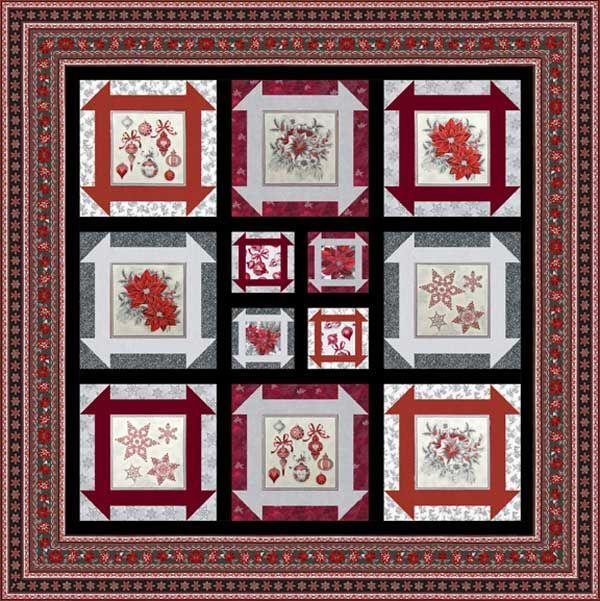 Robert Kaufman Holiday Flourish Silver Holiday Dash Quilt Kit 78 x ... : better quilt kits - Adamdwight.com