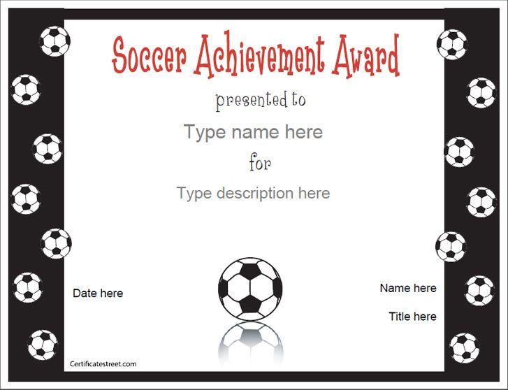 Sports Certificates Soccer Award Certificatestreet Com