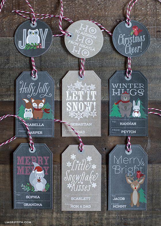 printable woodland gift tags