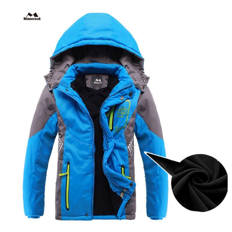 66b3133e1 MAZEROUT Boy Girl New Skiing Outdoor Jackets Winter Hood Camping ...