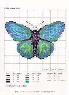 Amazing butterfly - free cross stitch pattern