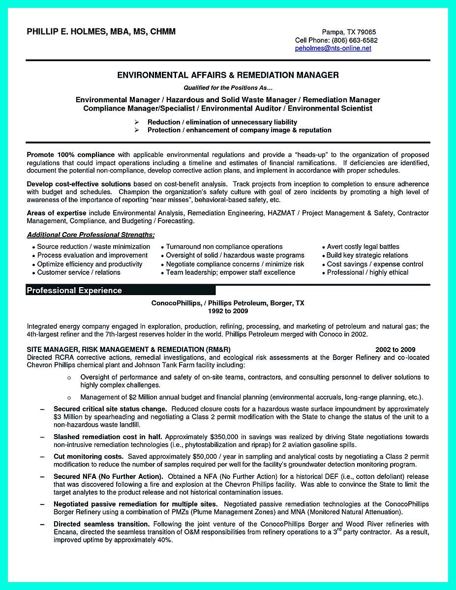 Nice Best Compliance Officer Resume To Get Manager S Attention Check More At Http Snefci Org Best Com Cover Letter For Resume Environmental Scientist Resume