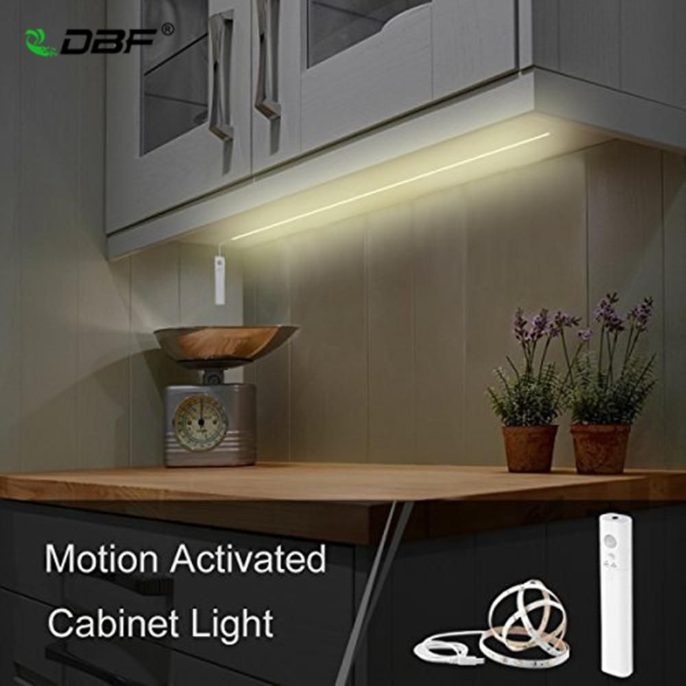 Dbf Under Cabinet Lighting Battery Operated Usb Rechargeable Motion Activated Led Strip Lights Kit Cabinet Lighting Led Strip Lighting Under Cabinet Lighting