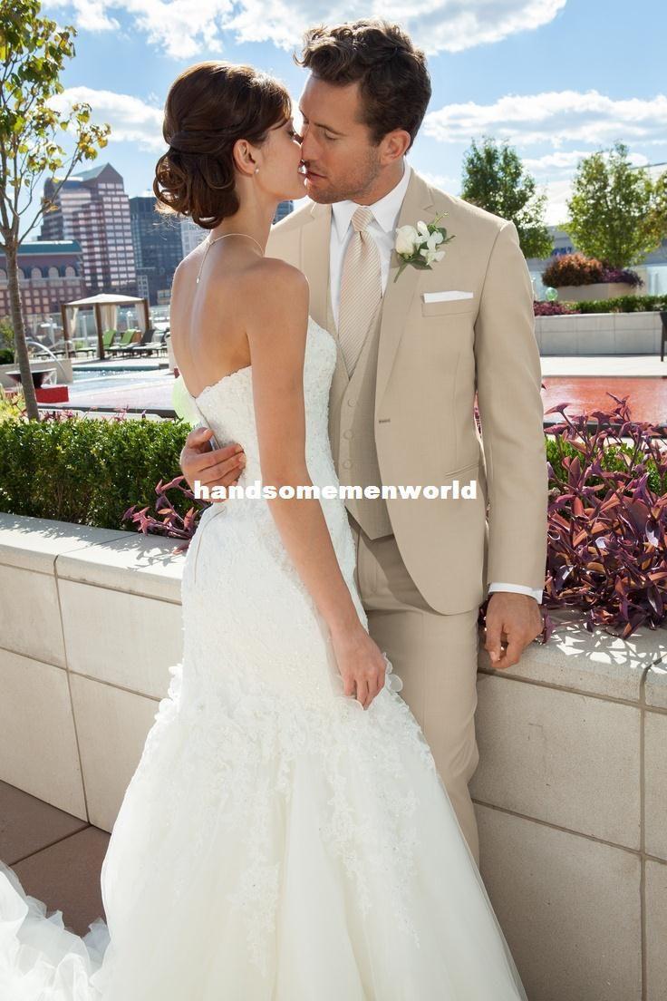 beige groomsmen suits - Google Search   wedding   Pinterest ...