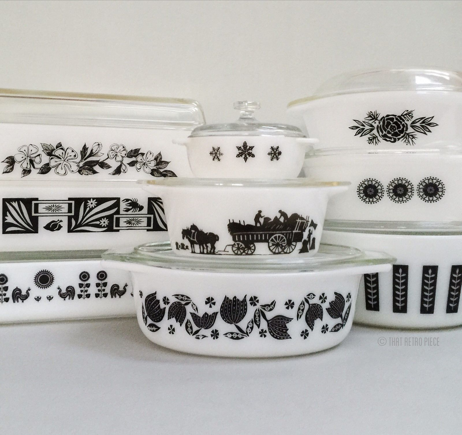 Some of my FAVOURITE black and white patterns | Pyrex, Gourmet and ...