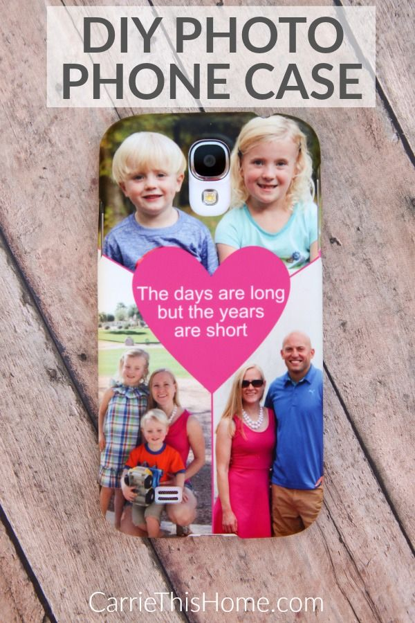 So easy to make! Seeing these photos makes the day better & is a good reminder of what's truly important in life. {DIY Photo Phone Case}