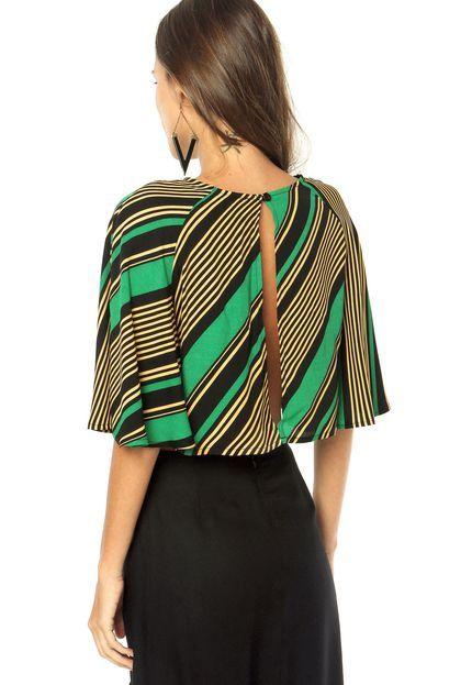 Blusa FARM Verde - Compre Agora  5df0e1a68b8