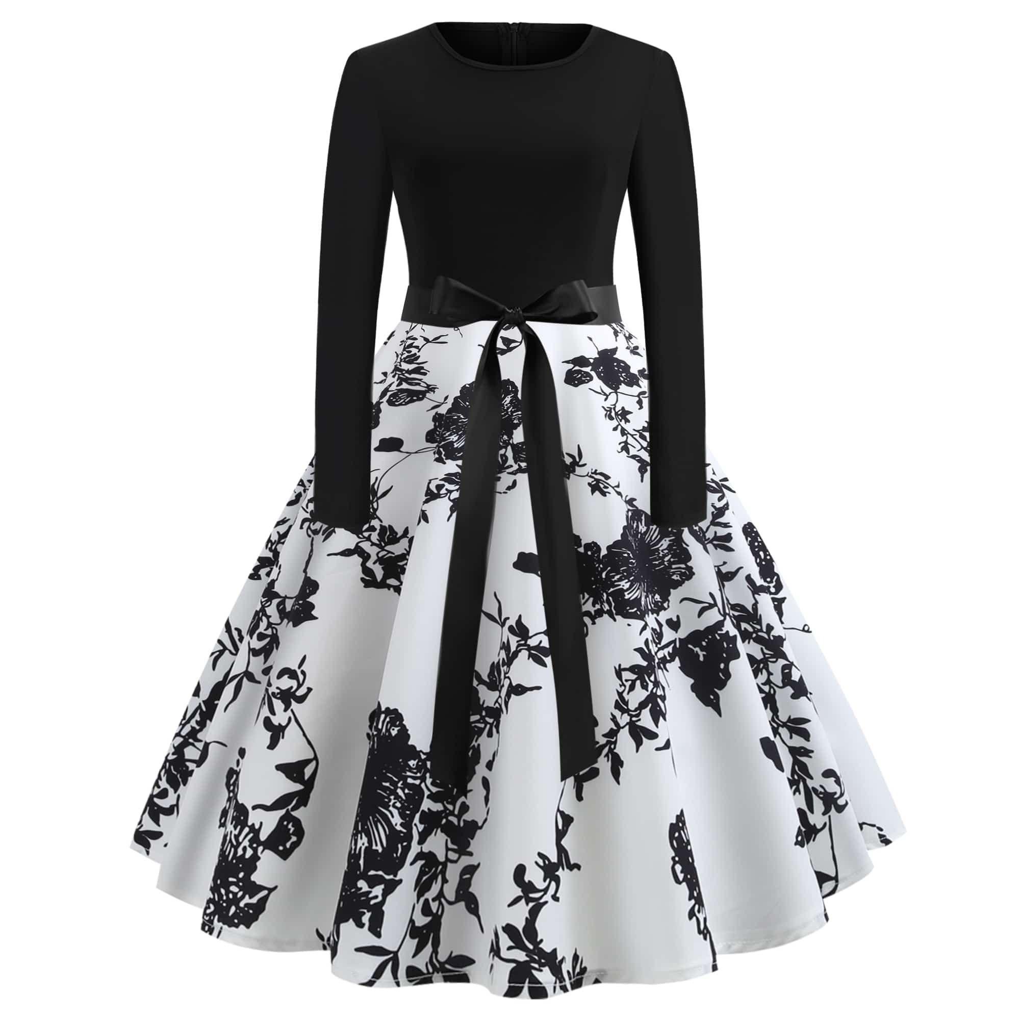 20+ Kleider Lang Schwarz Weiß Bild - Designerkleidern