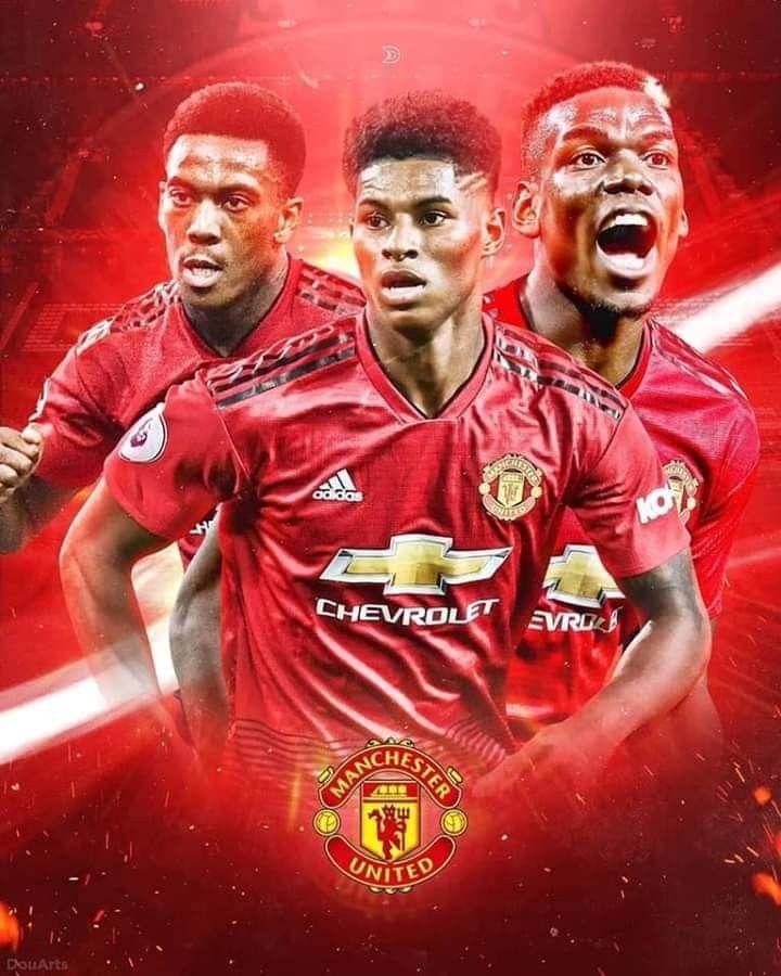 Rashford Anthony Martial Paul Pogba Manchester United Manchester United Fans Manchester United Players Cool manchester united player wallpaper