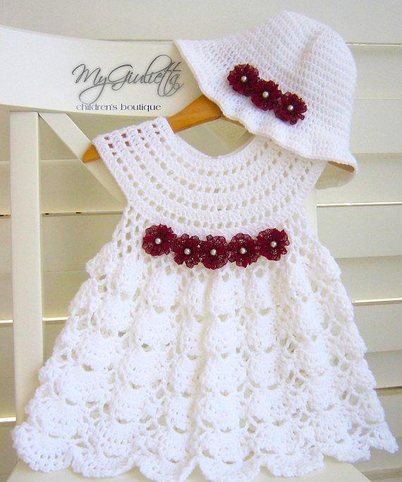 Bebé vestido de ganchillo Crochet falda del bebé conjunto de | Bebé ...