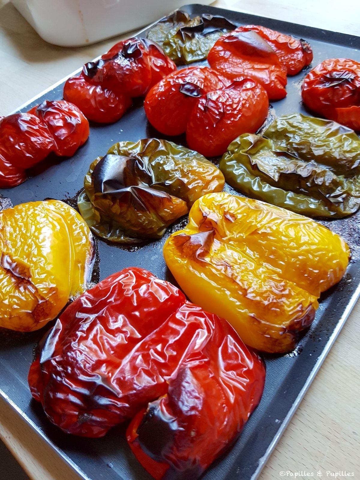 Comment faire des poivrons grillés au four