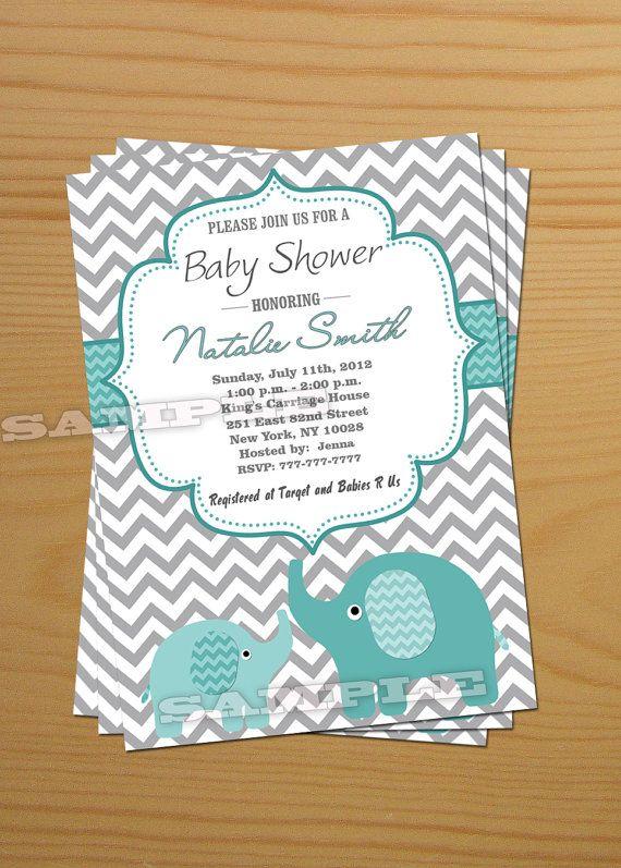 Boy Baby Shower Invitation Elephant Baby Shower Invitation Free