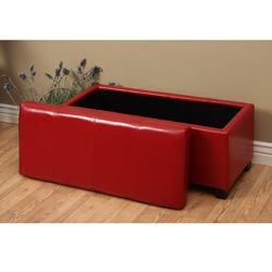 @Overstock - Update your home decor with this red faux leather storage ottoman. Its modern style and sleek design will instantly enhance any home. This ottoman features a lid with a storage compartment inside, perfect for your throws or remotes.http://www.overstock.com/Home-Garden/Warehouse-of-Tiffany-Ariel-Red-Faux-Leather-Storage-Bench/6313022/product.html?CID=214117 $92.99