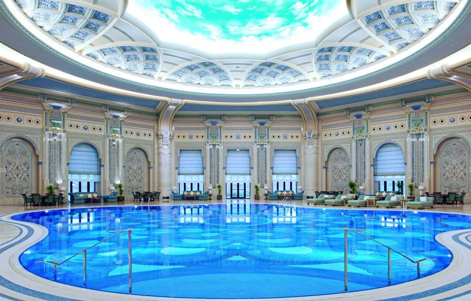 The indoor pool at the ritz carlton riyadh features - Hotels in riyadh with swimming pools ...