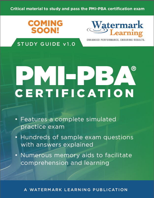 Coming Soon Pmi Pba Certification Study Guide Career Outlook
