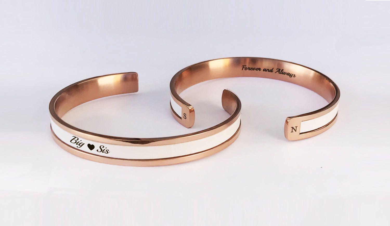 Gift For Her Little Sorority Bracelets Custom Gifts Sister Personalized
