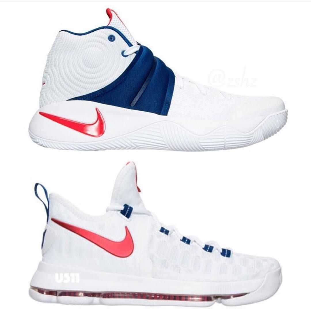 93080a7bf64b The 4th of July colorways of the Kyrie 2 and KD 9 are available at  kickbackzny