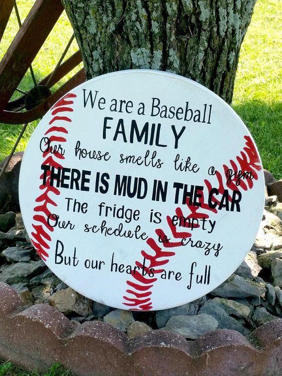 Photo of Baseball Sign  Family Baseball Sign  Wooden Baseball Sign  | Etsy