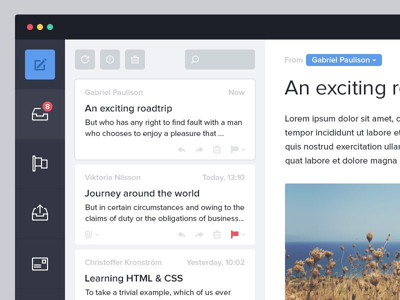 Mail app.. for fun App, App design, How to plan