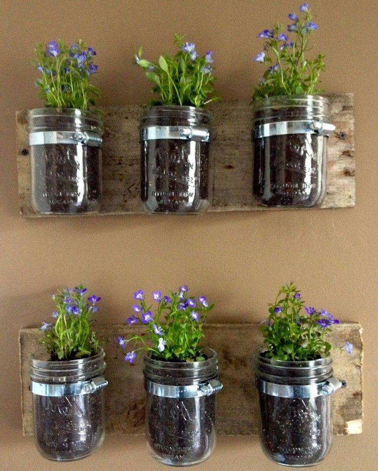 37 good diy indoor garden ideas for your home mason jar on indoor herb garden diy wall mason jars id=93677
