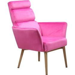 Photo of Sessel – pink – Samtbezug Roller