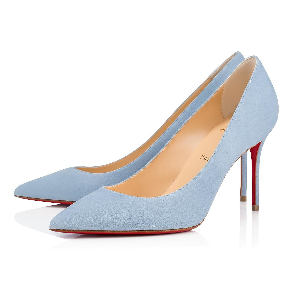 5b5716286f1f Decollete 554 85 Sky Suede - Women Shoes - Christian Louboutin in ...
