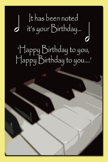 Birthday Cards With Piano Theme