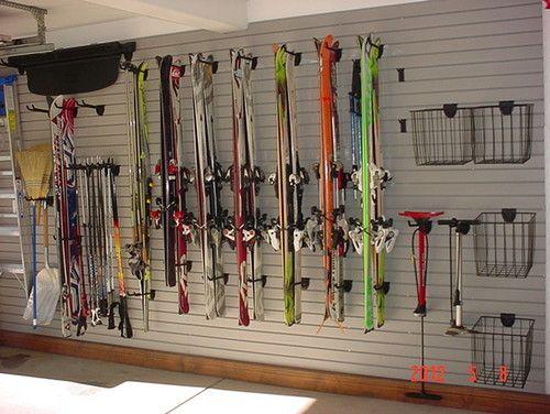 Ski Wall In Garage