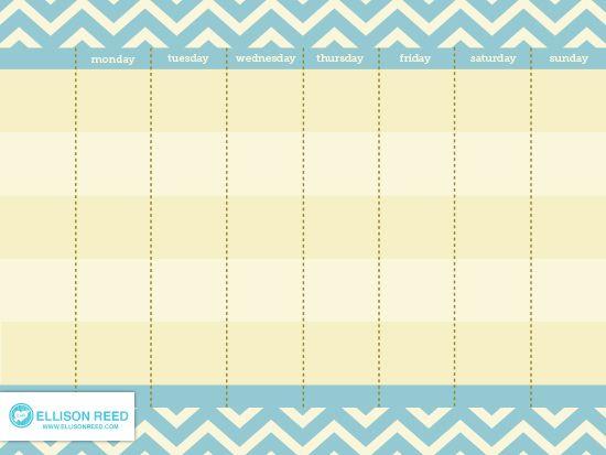 Free Printable Weekly Calendar (she Melissa - Kalender - free weekly calendar