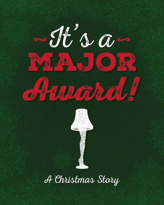 A Christmas Story Gift: A Christmas Story Printable Leg Lamp Printable Art Major
