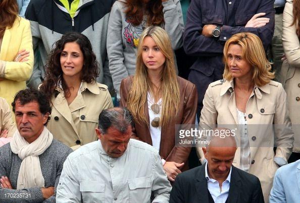 Rafael Nadal of Spain's girlfriend Xisca Perello sister Isabel Nadal
