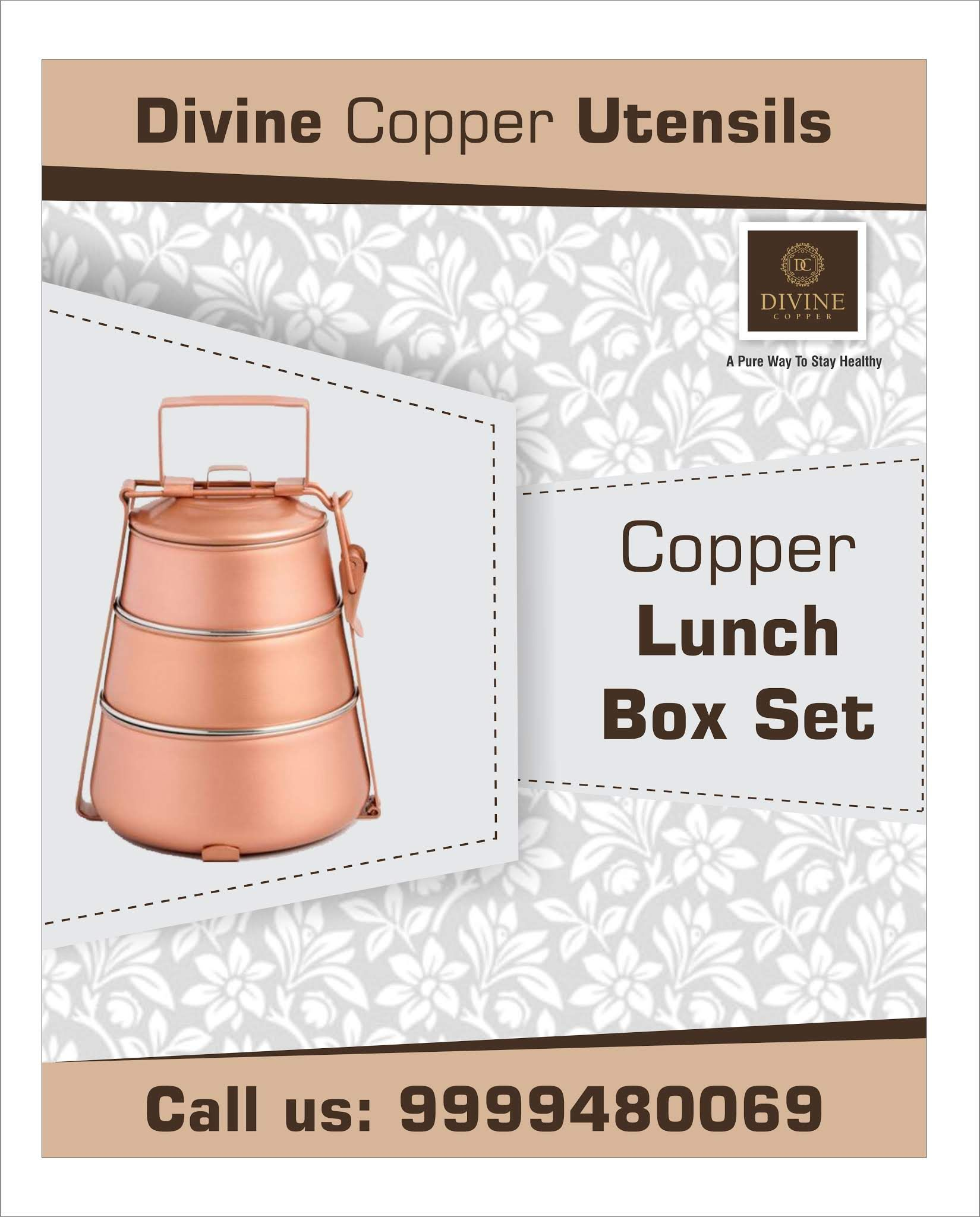 62baf11a6f8 Buy  Copper  Lunch  Box online at best price in  India