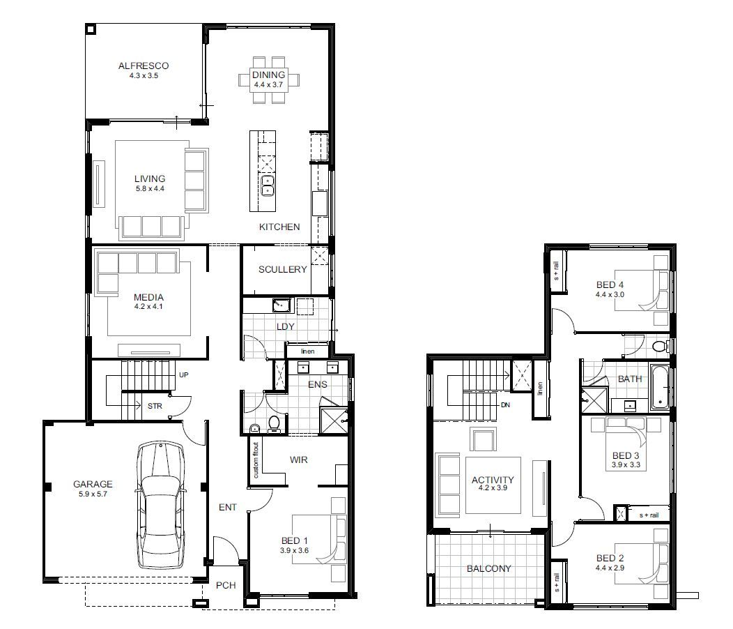 Lamont - 4 Bedroom House Designs Perth | Double Storey | APG Homes ...