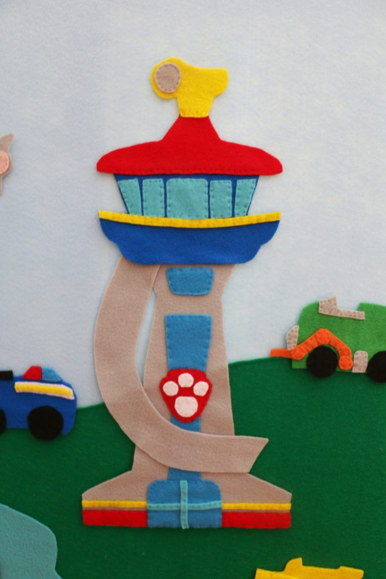 DIY Paw Patrol Felt Board – Free Patterns – At Home With Natalie #feltcreations