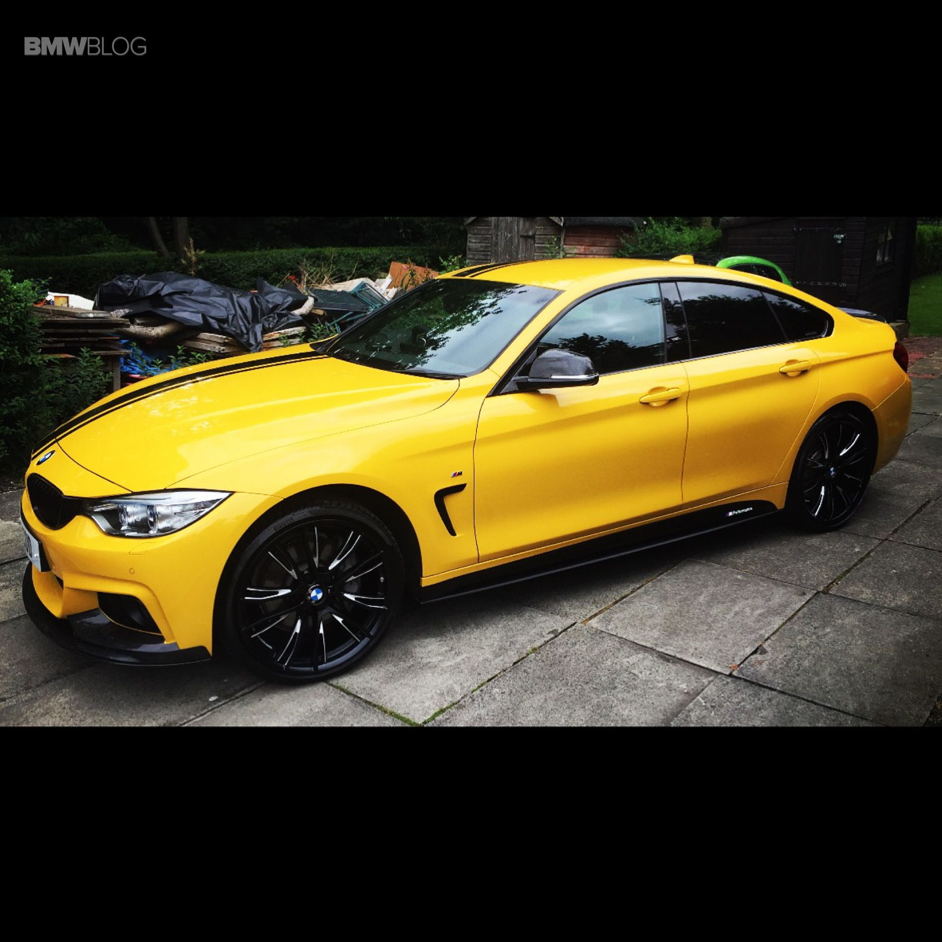 One Of A Kind: Individual Porsche Speed Yellow BMW 4