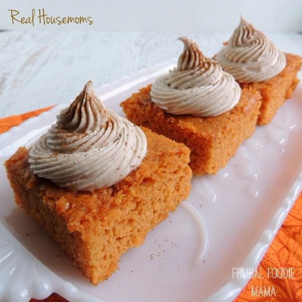 Most of my food pins are with other people in mind this one is just pumpkin pie angel food cake with cinnamon cream cheese frosting via thefrugalfoodiema for real housemoms this cake has just 3 simple ingredients forumfinder Image collections