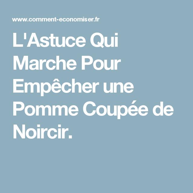 L'Astuce Qui Marche Pour Empêcher une Pomme Coupée de Noircir. | Joint de carrelage, Enlever les ...