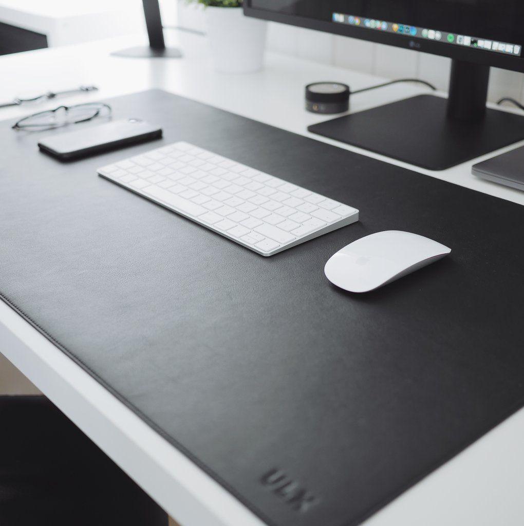 Leather Desk Mat Black Leather Desk Desk Mat Leather Desk Pad