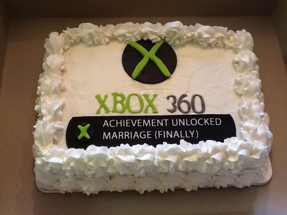 Xbox Achievement Unlocked Birthday Cake