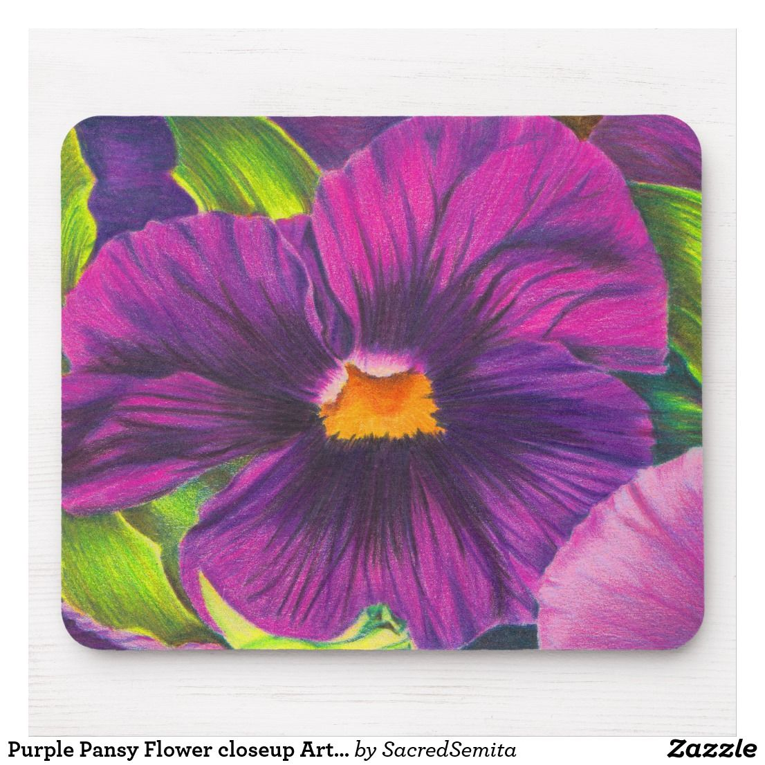 Purple Pansy Flower Closeup Art Print Mouse Pad Zazzle Com In 2020 Pansies Flowers Purple Pansy Pansies