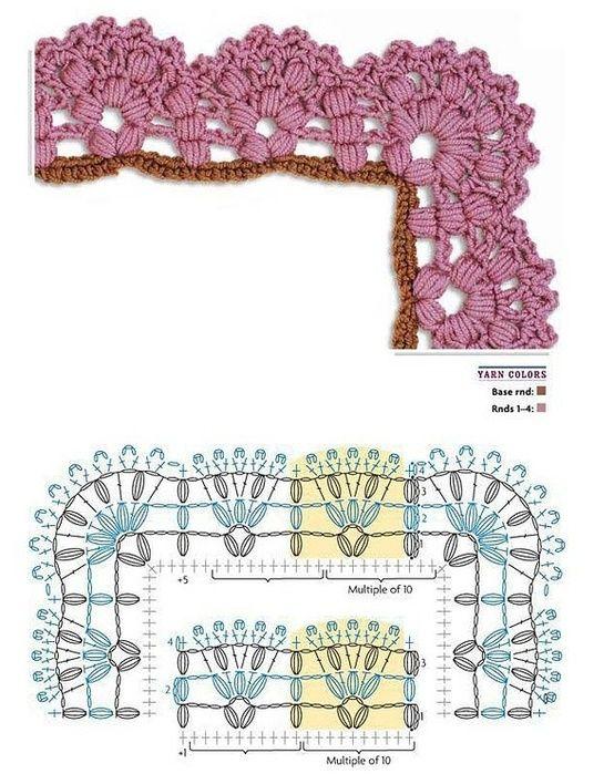 Orilla Crochet, Patrones | ganchillo 6 - cenefas y puntillas ...